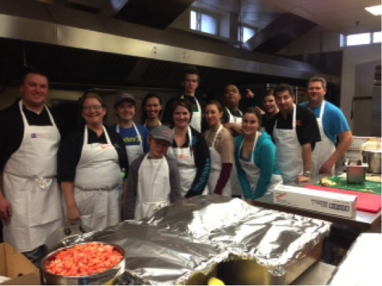 Bartle & Gibson Calgary Staff Pose For Picture After Preparing A Christmas Meal For Over 800