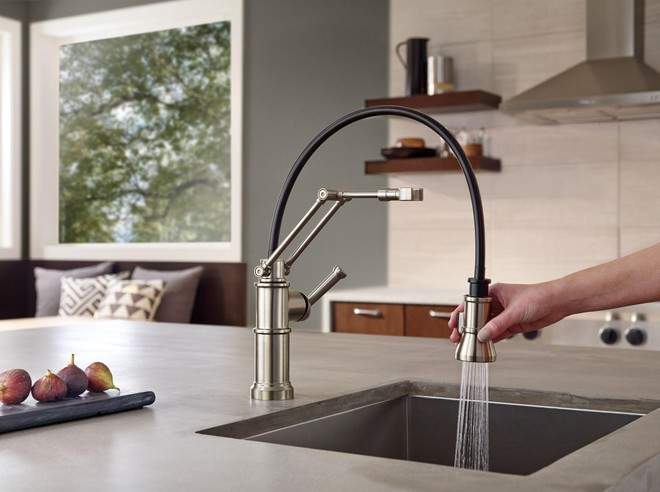 Artesso Single Handle Articulating Arm Kitchen Faucet