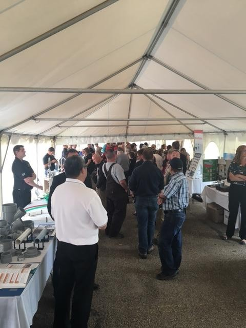 Customers line up for burgers at the annual Fort Road Customer Appreciation BBQ